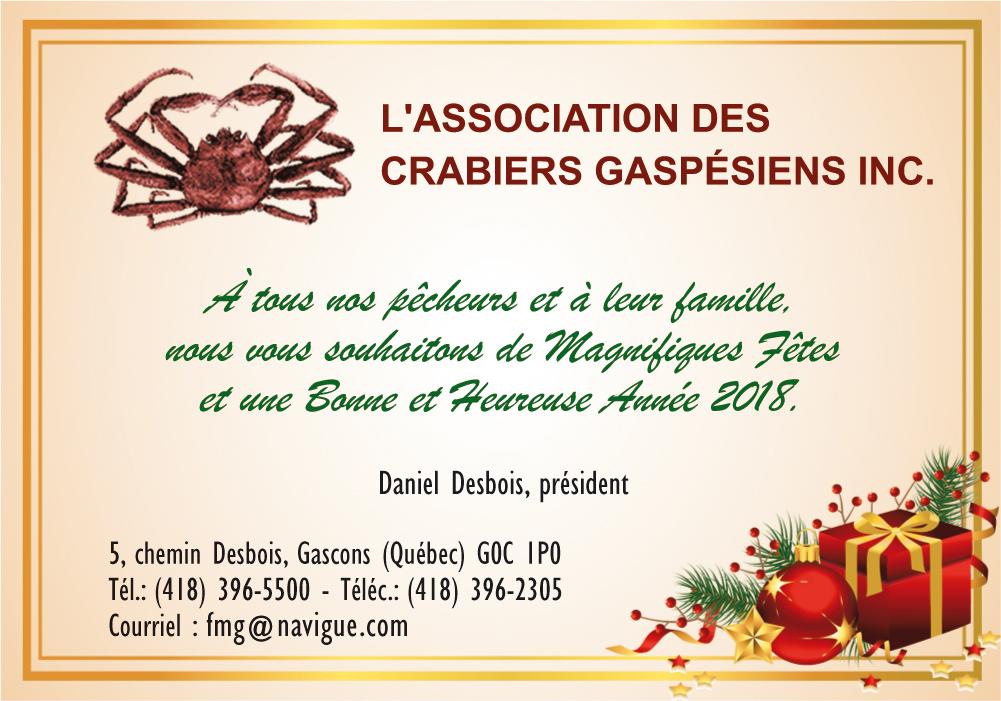 L'Association des crabiers gaspésiens Inc.