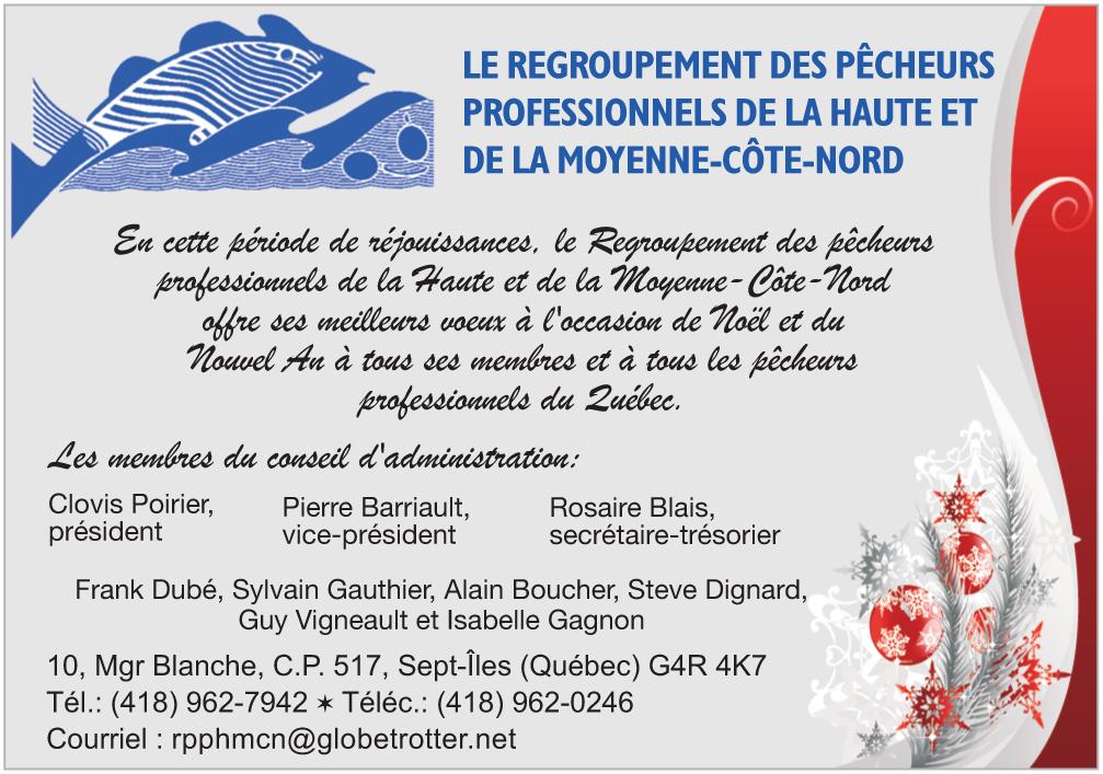 Le Regroupement des pêcheurs professionnels de la Haute et de la Moyenne-Côte-Nord