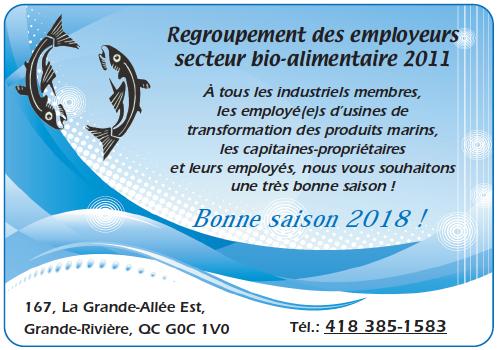 Regroupement des employeurs secteur bio-alimentaire 2011