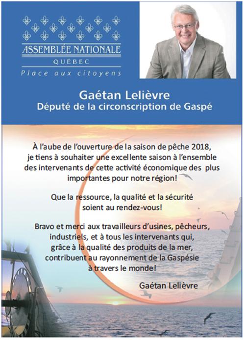 Député Gaétan Lelièvre - Gaspé