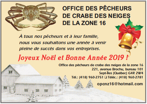 Office de crabe des neiges de la zone 16