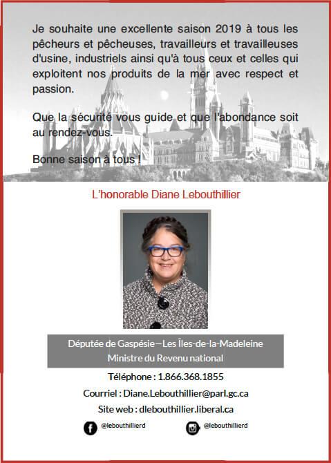 L'Hon. Diane Lebouthillier