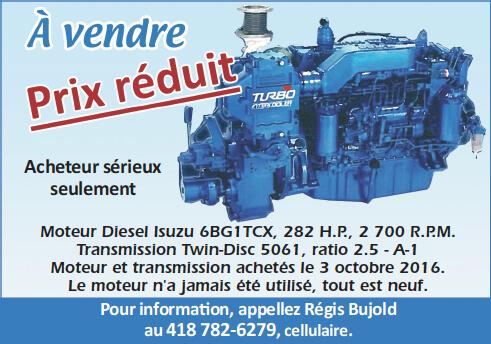 Transmission à vendre - Régis Bujold