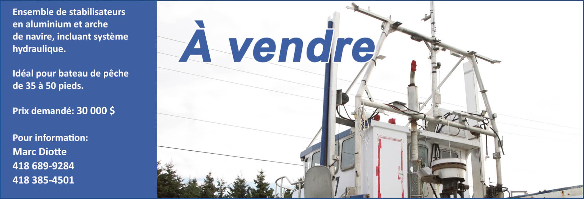 Équipement à vendre - Marc Diotte