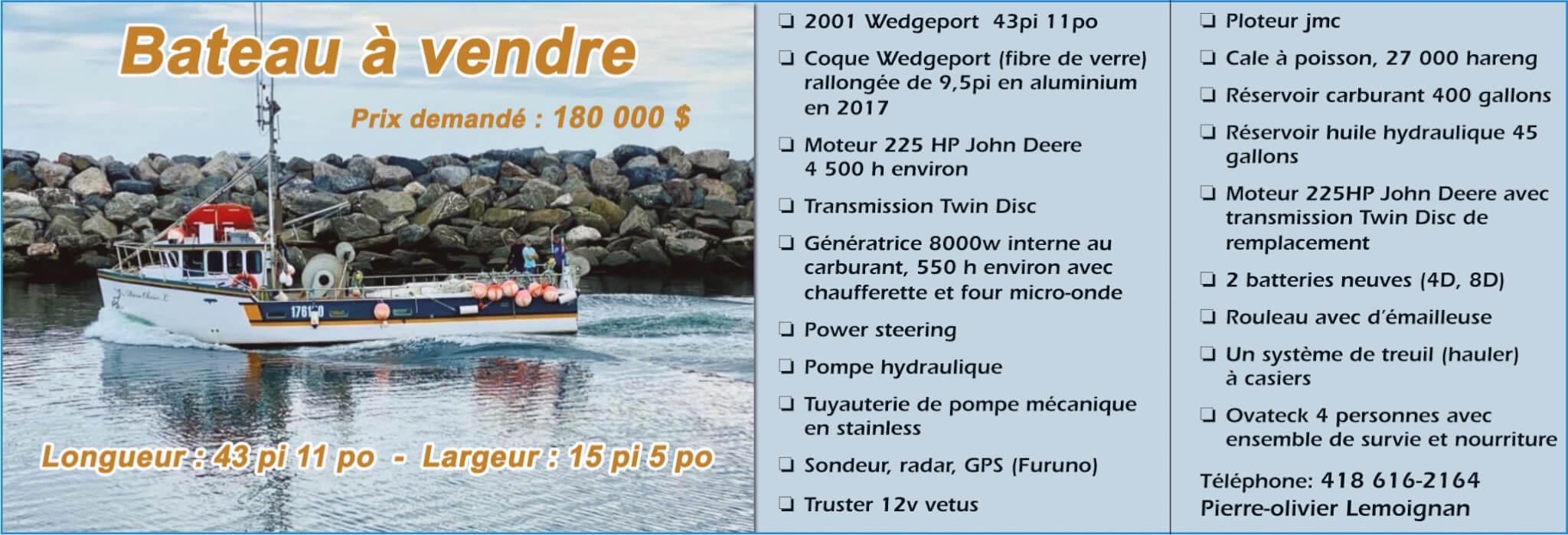 Bateau à vendre - Pierre-Olivier Lemoignan