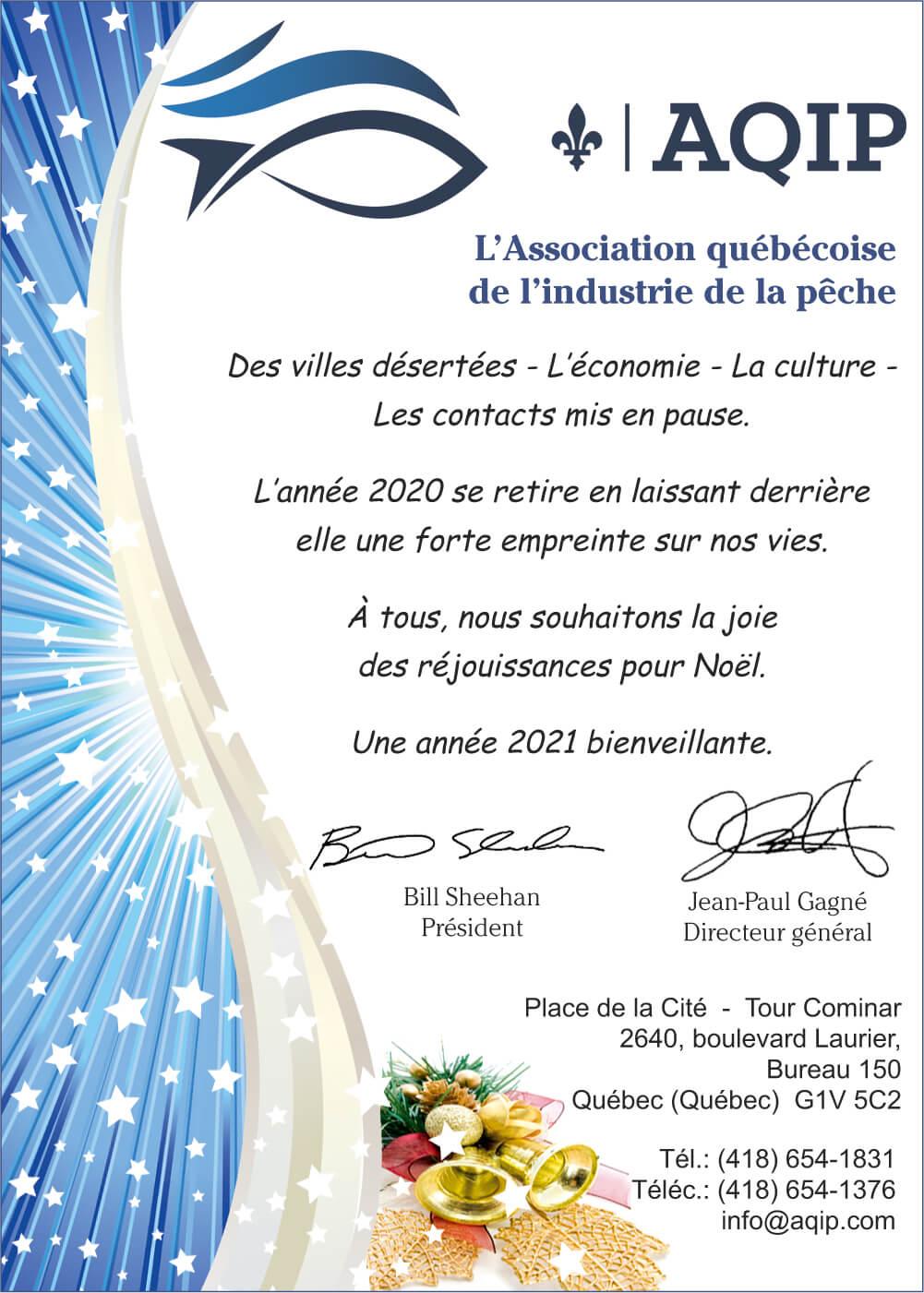 AQIP Association québécoise de l'industrie de la pêche