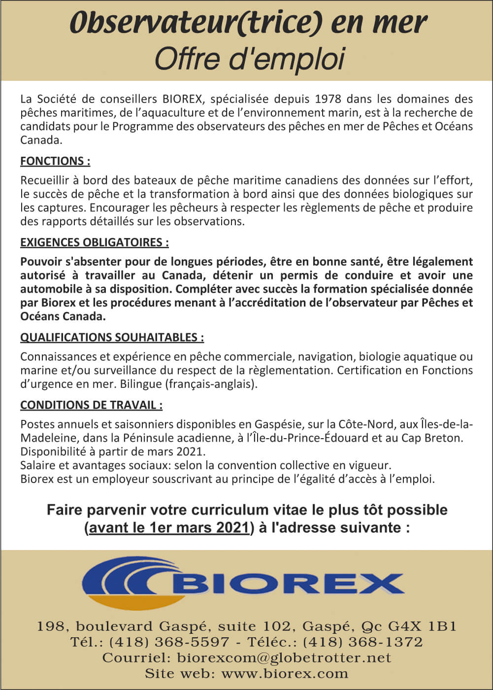 Biorex - Offre d'emploi