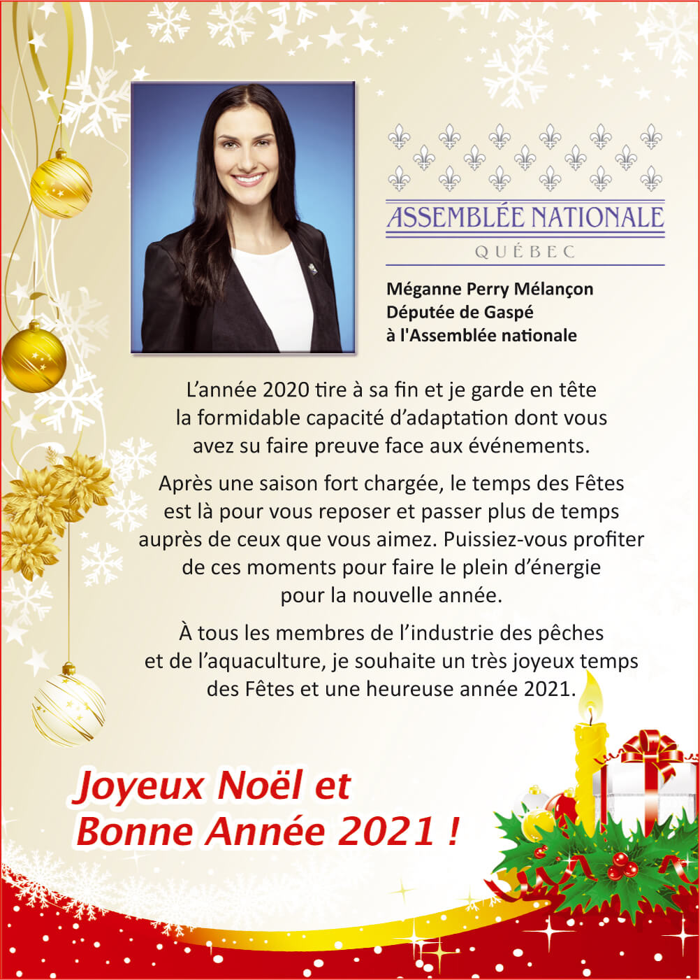 Méganne Perry Mélançon, députée de Gaspé