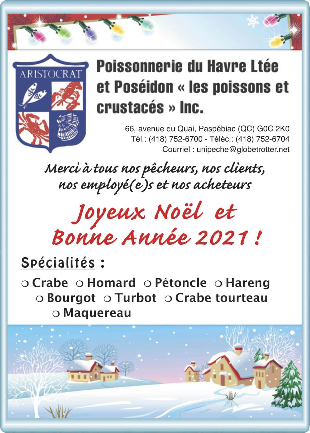 Poissonnerie du Havre Ltée et Poséidon «les poissons et crustacés» inc. Inc.